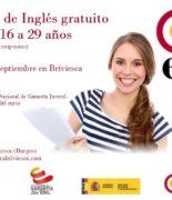 Curso intensivo de inglés gratuito para jóvenes de 16 a 29 años del 26 de agosto al 11 de septiembre